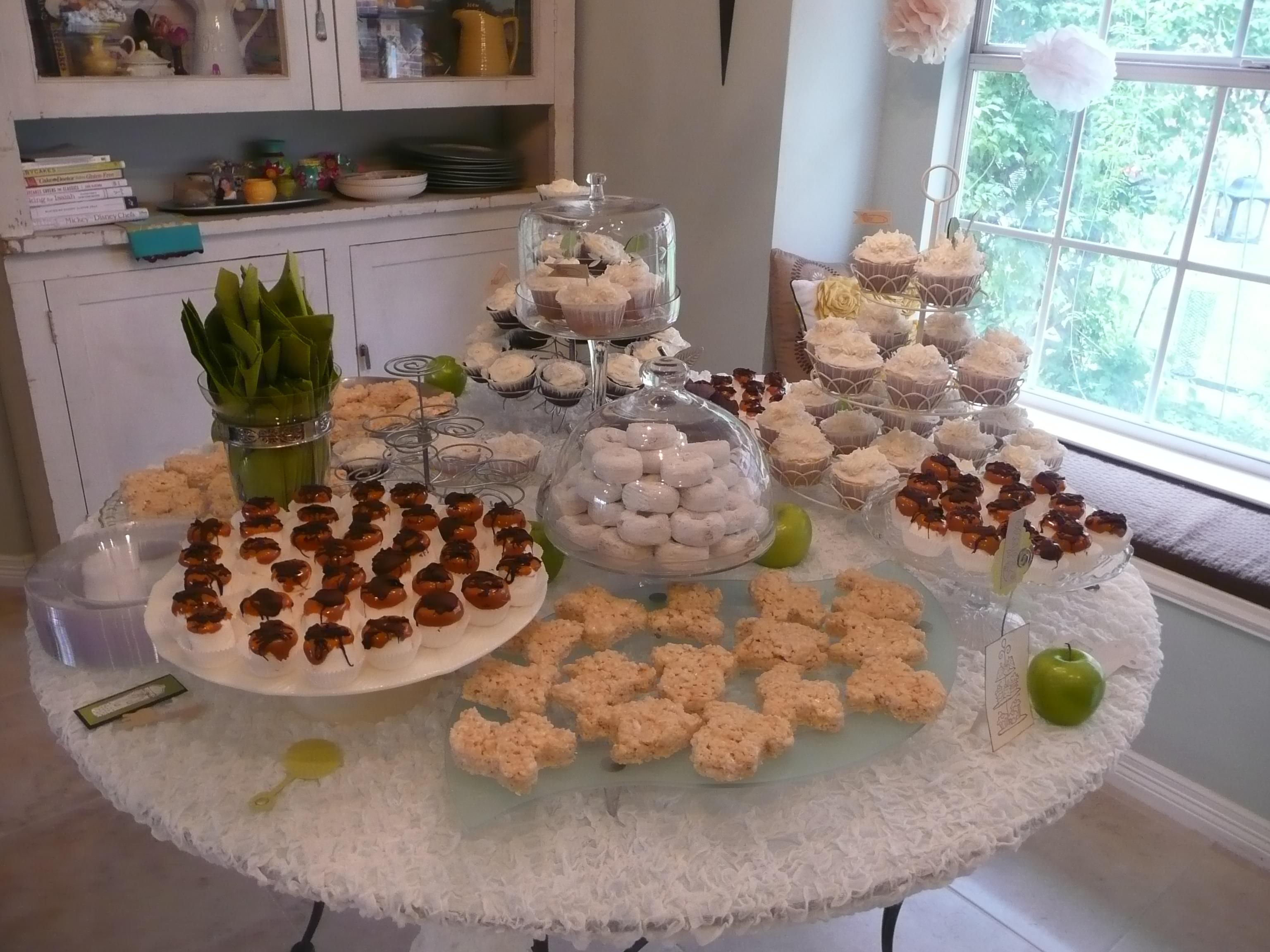 baby shower dessert table highlights