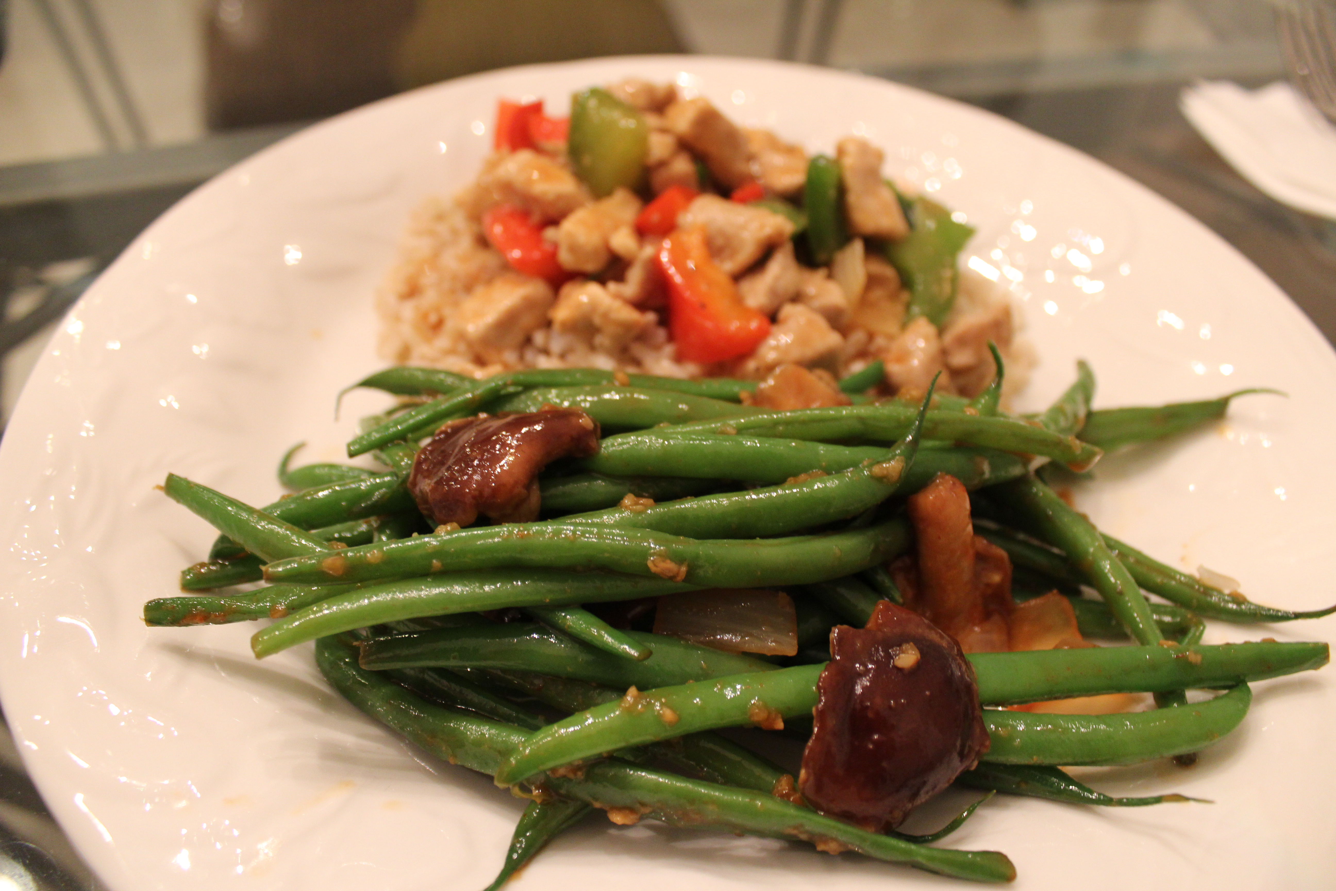 Green Beans Asian Style With Shiitake Mushrooms | Michele Busch